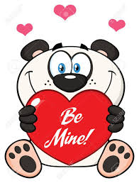 imagenes animadas sobre amor lindo personaje de dibujos animados oso de panda de san valentín del