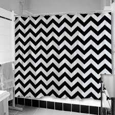 Blue And White Striped Shower Curtain Wall Decor Awesome Chevron Curtains In Black For Shower Stall For