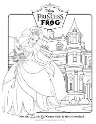 princess u0026 the frog color sheets a thrifty mom recipes crafts