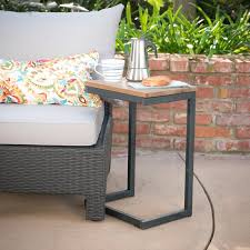 Side Patio Table Williston Forge Outdoor C Shaped Side Table Reviews Wayfair