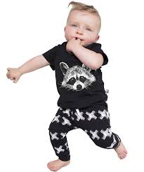 amazon com newborn fox baby girls boys tops t shirt pants