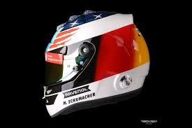 schumacher design helmet of mick schumacher at mick schumacher spa helmet design