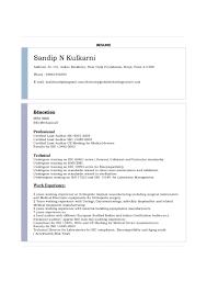 Auditor Resume Sample by Resume Of Sandip N Kulkarni