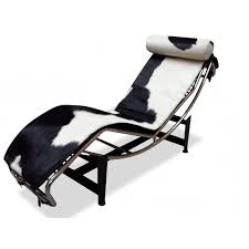 home design le corbusier lc4 chaise lounge chair in cowhide for
