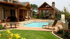 pool mind blowing backyard landscpaing decoration using black
