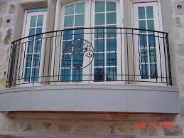 exterior classic style french balcony design using black wrought