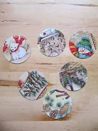 sew many ways recycled christmas cards u2026circle ornament