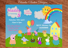 peppa pig invitation personalized peppa pig invite peppa pig