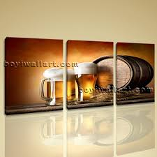 Home Decor Canvas Art Canvas Prints Food And Beverage Beer Contemporary Home Decor Wall Art