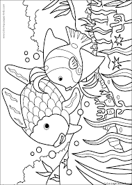 fish color animal coloring pages color plate coloring