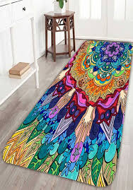affordable home decor catalogs bohemian floral antiskid bath rug decorative items country