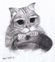 imagenes a lapiz de gatos dibujar gato a lápiz gatos