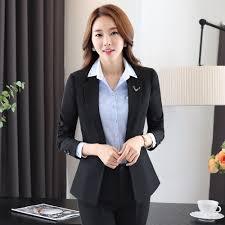 buy women wear suits spring black long sleeve ladies dress suit