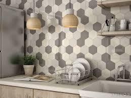 Beautiful Kitchen Backsplash Ideas Modern Multi Color Hexagon Tile Backsplash 35 Beautiful Kitchen