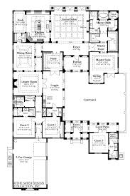 u shaped house with courtyard mexican style courtyard house plans american ranch house