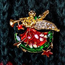 online shop genboli women brooch fashion angel wings collar pin