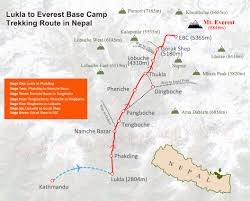 Maps Route the ultimate mt everest tourist route maps