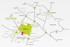 Hyderabad Map Golfedge Luxury Apartments In Gachibowli Nanakramguda