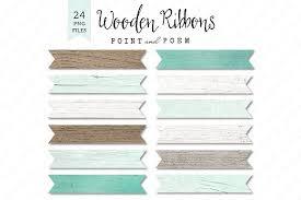 rustic ribbon wood ribbons textured rustic illustrations creative market