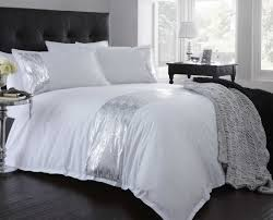Jeff Banks Duvet Sets Bedding White Jeff Banks Dayna Bedding Set Bhs In Silver And