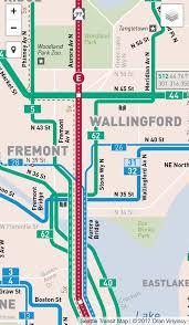 seattle map eastlake seattle transit map seatransitmap