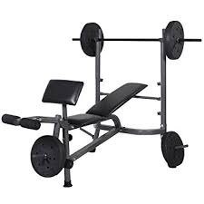 weight and bench set amazon com goplus standard weight lifting bench set incline flat