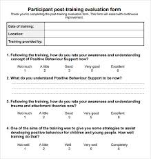 trainer evaluation form