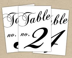 wedding table numbers template table numbers template ivedi preceptiv co