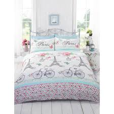 paris bedding for girls just contempo french paris duvet cover set single pink amazon