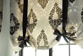 Tie Up Window Curtains No Sew Tie Up Shades The Rozy Home