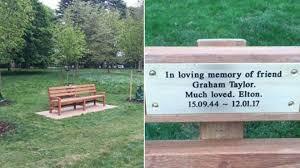 John Bench Sir Elton John Pays For Park Tribute To Graham Taylor Bbc News