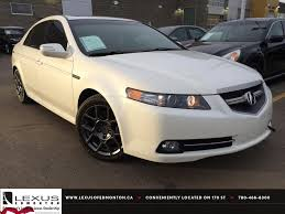 lexus or acura sedan used white 2007 acura tl at type s review whitecourt alberta