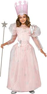 amazon com wizard of oz deluxe glinda the good witch costume