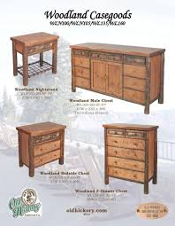 Rustic Cabin Furniture Rustic Furniture Hickory Furniture Hickory Casegoods Rustic