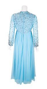 vintage 1960s turquoise u0026 silver sequin evening dress