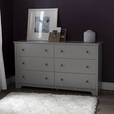 South Shore Bedroom Furniture By Ashley Amazon Com South Shore Vito 6 Drawer Double Dresser Soft Gray