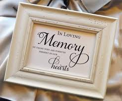 in loving memory wedding sign in loving memory of those who are forever present in our hearts