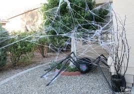 scary decorations diy decorations spooky spider web and a spider