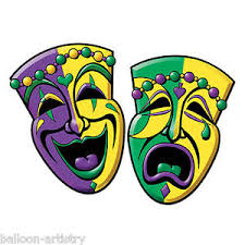 mardi gras mask 2 mardi gras carnival party comedy tragedy mask cutouts