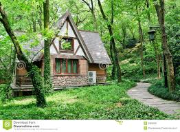 little house in the woods stock image image 30853281