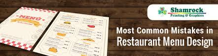 top 6 common mistakes in restaurant menu design