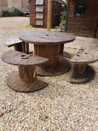 garden table furniture outdoor cable reel table and chairs 8