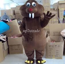 Beaver Halloween Costume Bucktooth Nutria Mascot Coypu Costume Cartoon Beaver Mascot Big
