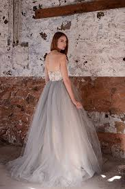 white and grey wedding dress strapless white and grey a line unique two tone lace wedding