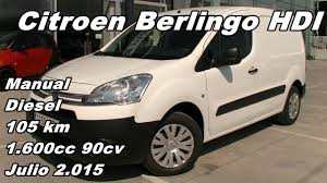 citroen berlingo hdi furgon manual diesel 90cv 105km en santogal