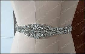 cheap sashes 2018 new motif rhinestone bridal sashes shiny