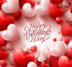 3d realistic hearts background with sweet happy valentines