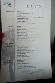 new main dining room menus on oasis of the seas