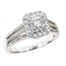 bjs wedding rings 75 ct t w and baguette diamond fashion ring in 14k white