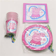 peppa pig party supplies 40pcs lot pig party supplies kids birthday party decoration